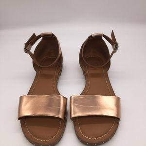 Franco Sarto Venice Ankle Strap Sandals Rose Gold